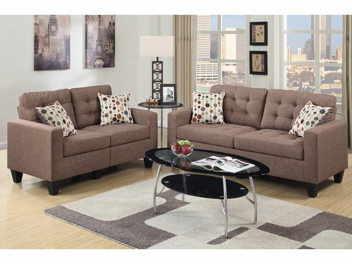 Poundex Furniture Item F6904: 2-PCs Sofa Set