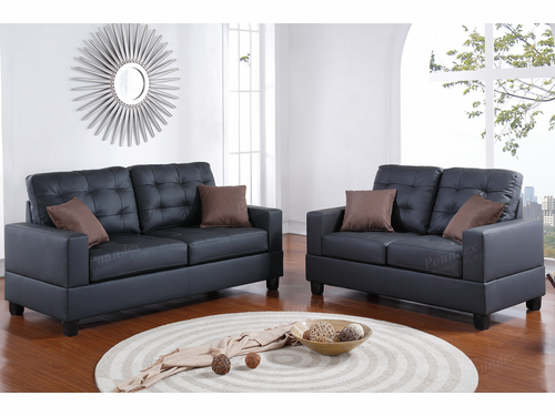 Poundex Furniture Item F7855: 2-PCs Sofa Set