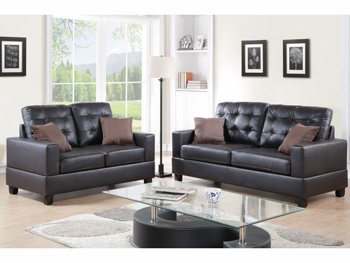 Poundex Furniture Item F7857: 2-PCs Sofa Set