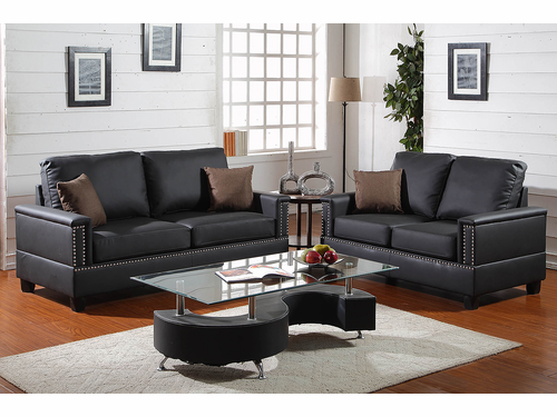 Bobkona 2-PCs  Plush Sofa Set