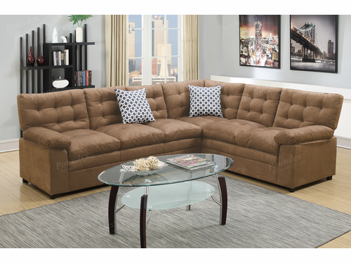 Bobkona 2-PCS Sectional Sofa