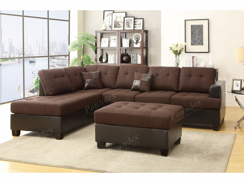 Bobkona 3-PCS Sectional Sofa Set