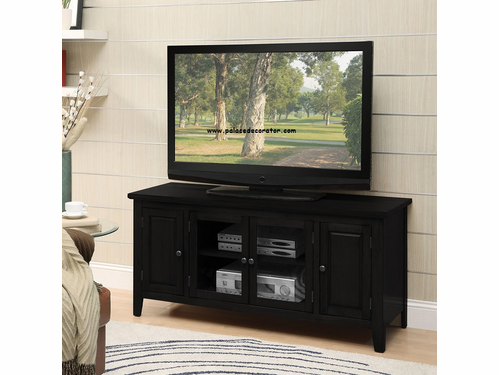 Christella Black Finish TV Console