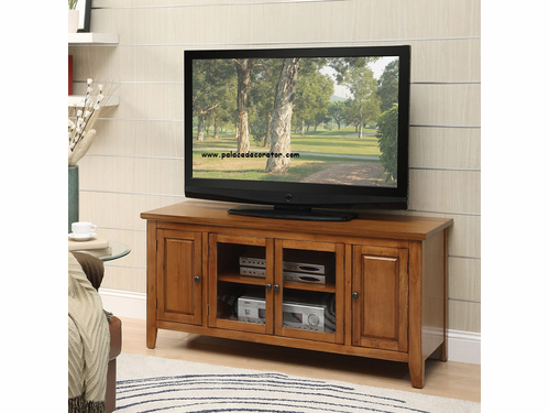 Christella Oak Finish TV Console