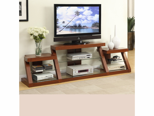 Dark Oak Finish TV Stand