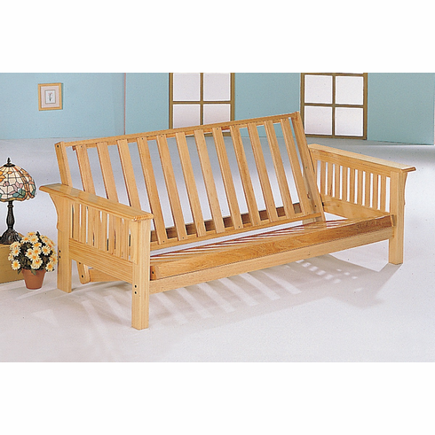 Finish Full Size Solid Wood Futon Frame