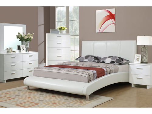 Poundex Furniture Item F9241F: Full Size Platform Bed Frame