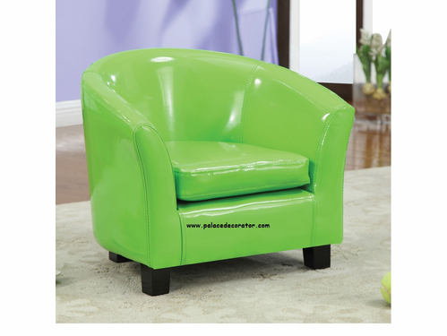 Green PU Youth Chair