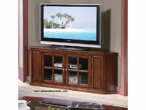 Malka Oak Finish Corner TV Stand