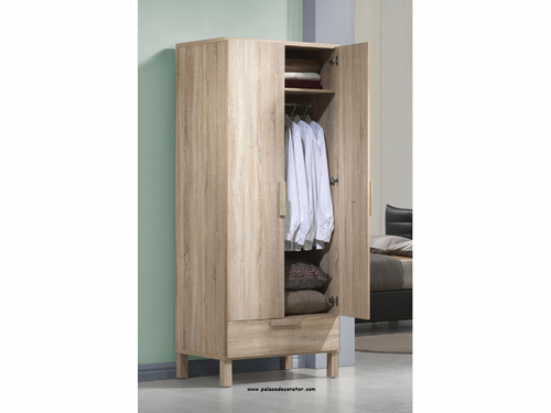 Odella Oak Finish Wardrobe