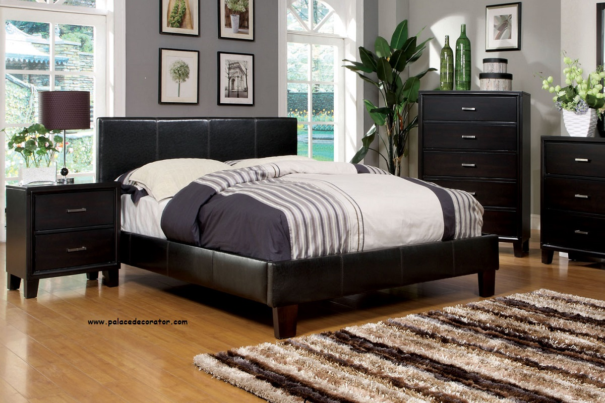 Cm7008ex winn park espresso finish platform full size bed for Full size bed frame