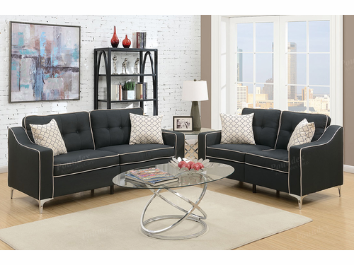 Poundex Furniture Item F6891: 2-Pcs Sofa Set