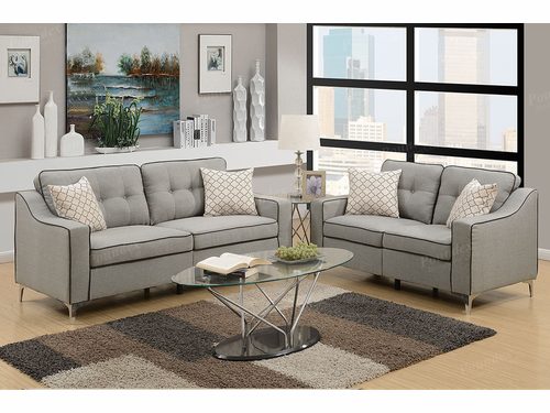 Poundex Furniture Item F6892: 2-Pcs Sofa Set