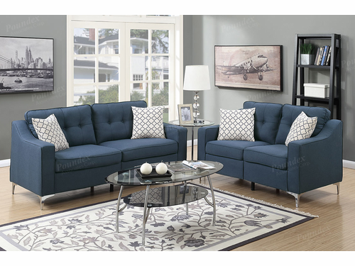 Poundex Furniture Item F6893: 2-Pcs Sofa Set