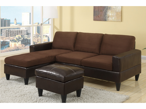 Poundex Associates Item F7291:  All in one Reversible Studio/Mini Sectional