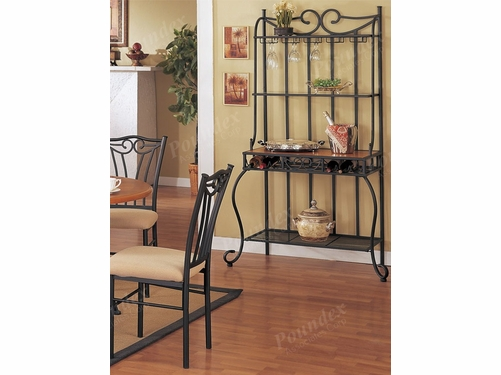 Poundex Furniture Item F3024:  Bakers/ Wine Rack