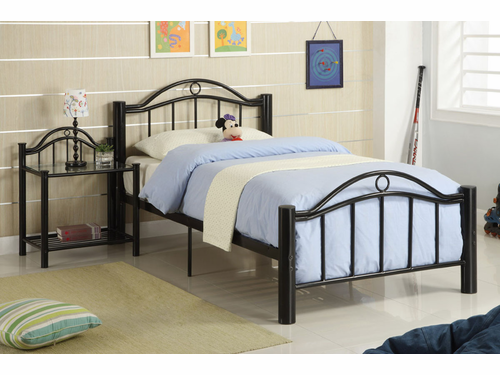 Poundex Furniture Item F9010F: Full Size Metal Bed Frame