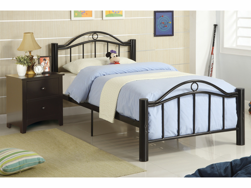 Poundex Furniture Item F9010T:  Twin Size Metal Bed Frame