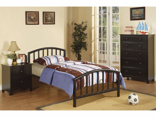 Poundex Furniture Item F9018T:  Twin Size Metal Bed Frame