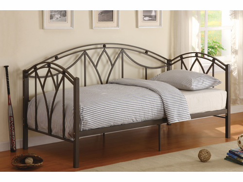 Poundex Furniture Item F9082:  Metal Frame Day Bed