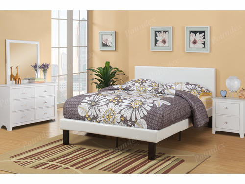 Poundex Furniture Item F9210T: Twin Size Faux Leather Bed Frame