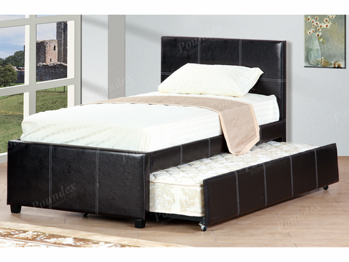 Poundex Furniture Item  F9214T: Twin Bed Frame W/Trundle