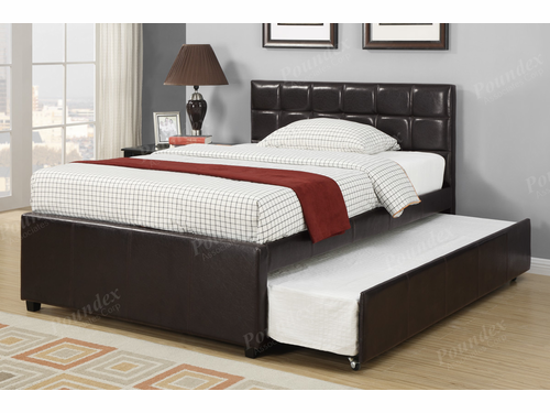 Poundex Furniture Item  F9215F: Full Size Bed Frame W/Trundle