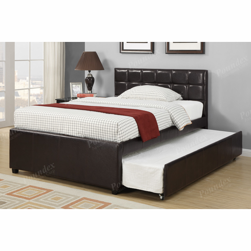 Poundex Furniture Item  F9215T: Twin Bed Frame W/Trundle