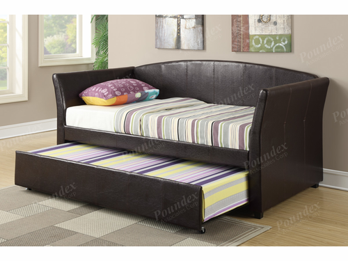 Poundex Furniture Item F9221: Upholstered Day Bed Frame