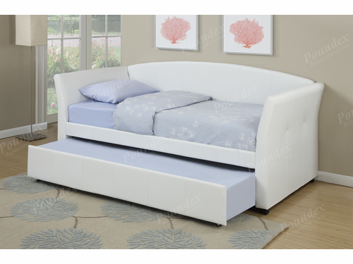 Poundex Furniture Item F9259: Upholstered Day Bed Frame