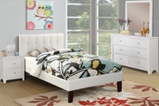 Poundex Furniture Item F9358F: Full Size Faux Leather Bed Frame