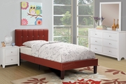 Poundex Furniture Item F9359F: Full Size Faux Leather Bed Frame