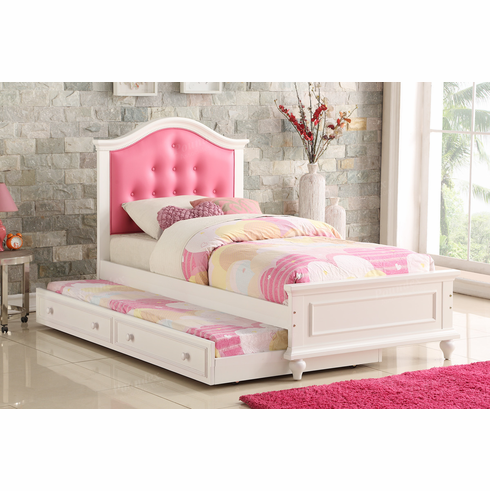 Poundex Furniture Item F9377: Twin Size Bed W/Trundle