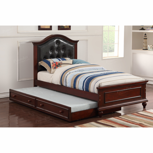 Poundex Furniture Item F9379: Twin Size Bed W/Trundle