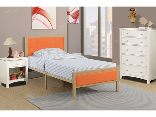 Poundex Furniture Item F9391T: Twin Size Metal Bed Frame