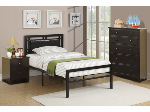 Poundex Furniture Item F9413T: Twin Size Metal Bed Frame