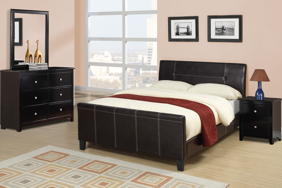 Queen Size Bed Frame F9225 By Poundex