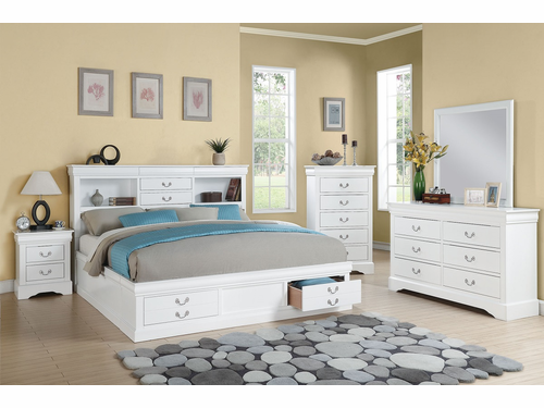 Queen Size Bed Frame W/Storage.