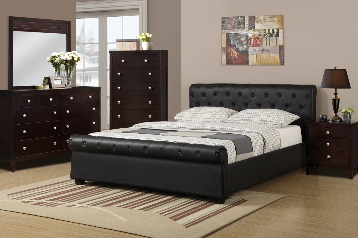 F9246q bobkona xii queen size platform bed frame - Bed frame for queen size ...