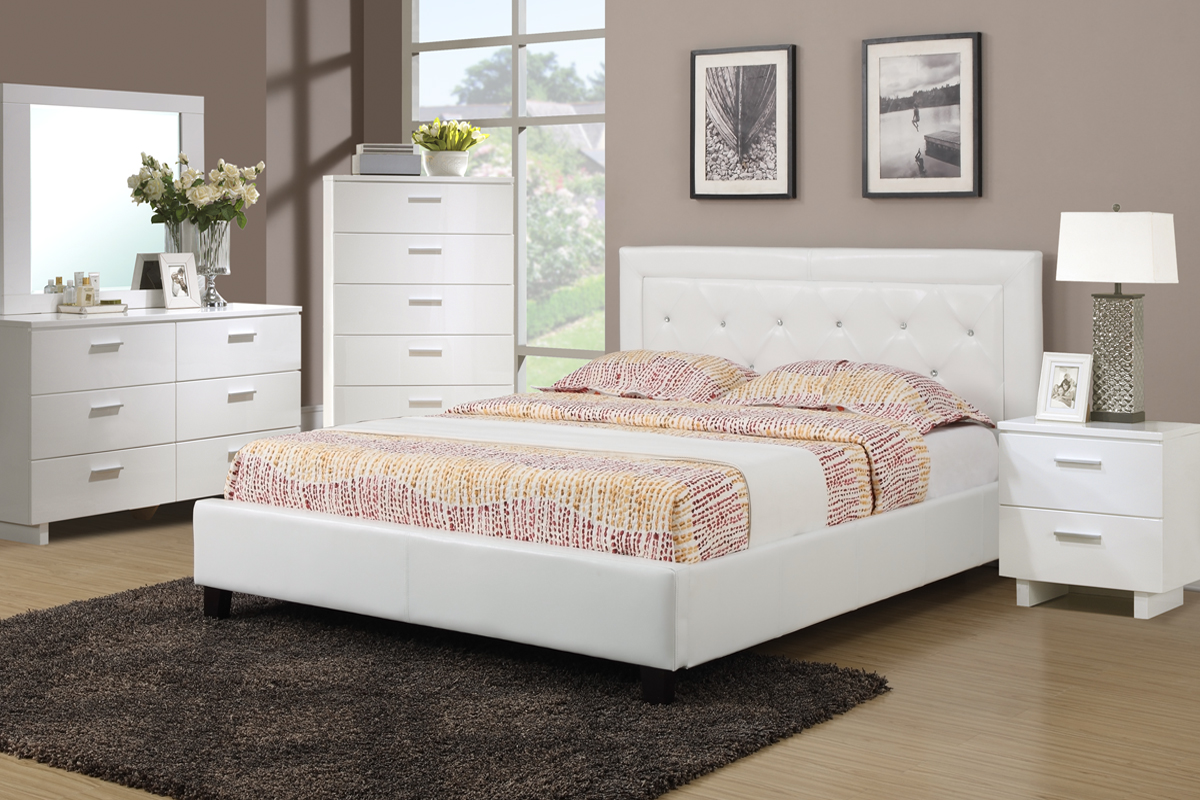 queen size platform bed frame - White Queen Size Bed Frame