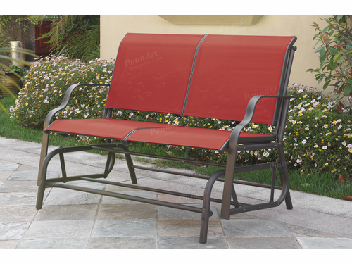 Steel Frame Outdoor Glider Loveseat