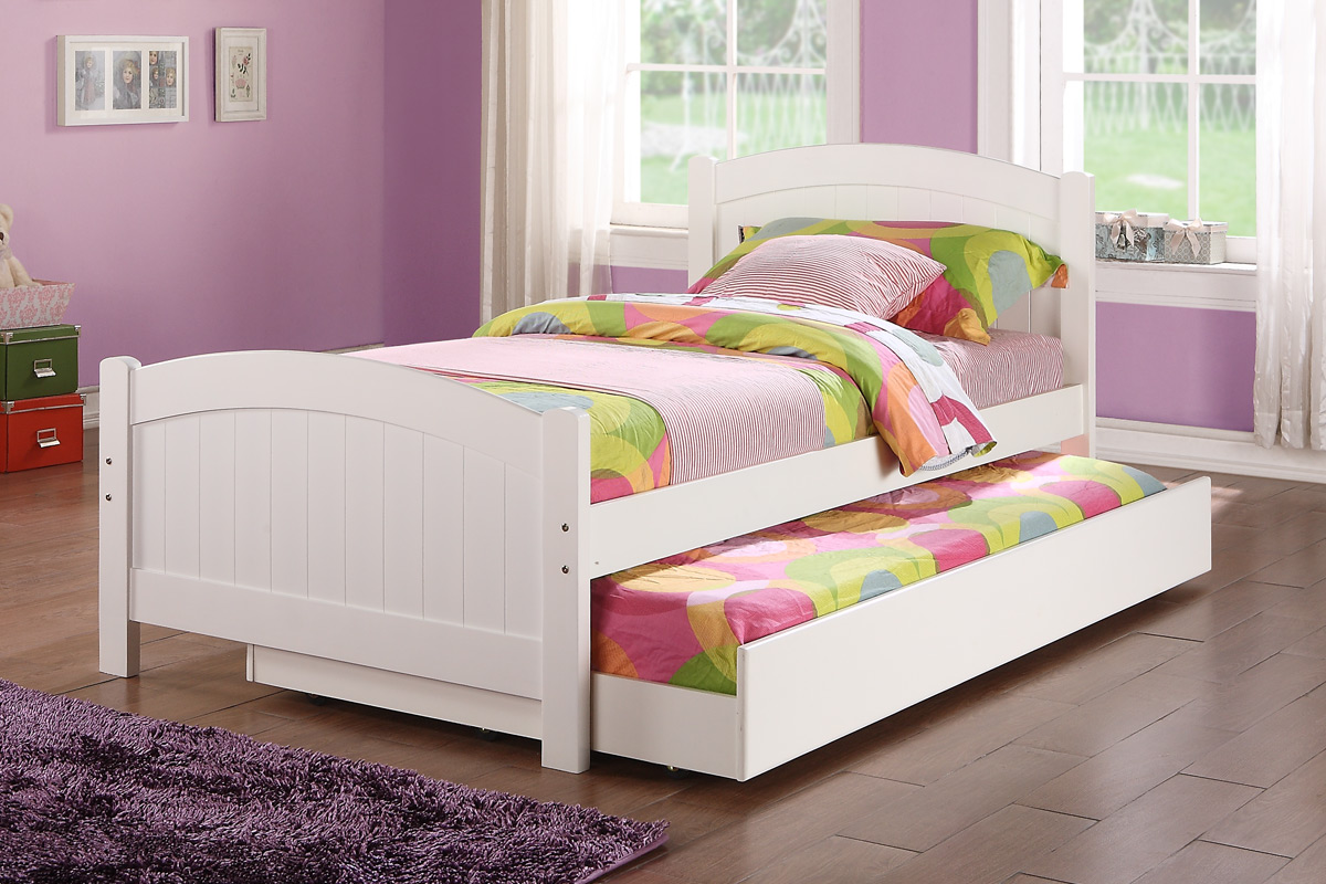 Poundex Furniture Item F9218 Twin Size Bed W Trundle
