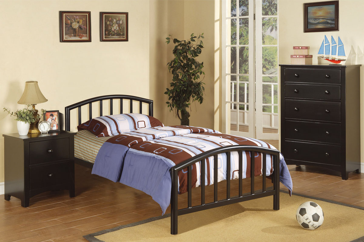 F9018t Twin Size Bed Frame By Poundex