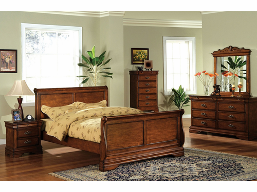 Venice Collection Full Size Sleigh Bed Frame