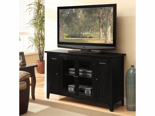 Vida Black  Finish TV Console