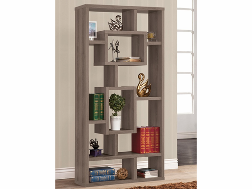 Weathered Grey Finish Bookcase