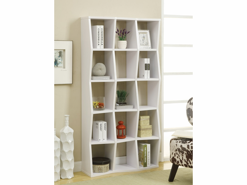 White Finish Bookcase