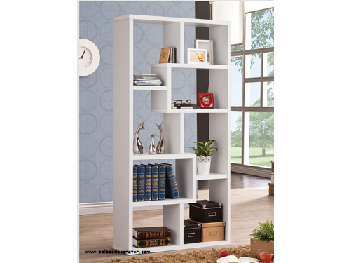 White Finish Bookshelf
