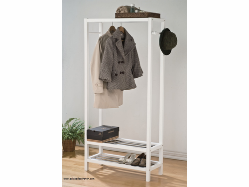 White Finish Garment Rack