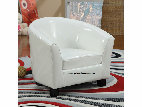 White PU Youth Chair